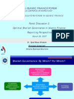 Optimal ShariahGovernance in Islamic Finance Reporting Perspective