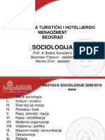 Sociologija Bg 2009