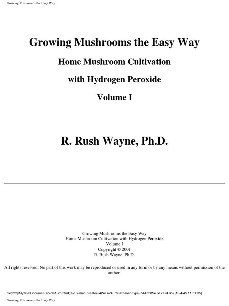 Growing mushrooms the easy way home mushroom cultivation with growing mushrooms the easy way home mushroom cultivation with hydrogen peroxide mushroom sterilization microbiology fandeluxe Images