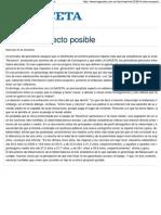 El único proyecto posible - Imprimir La Gaceta