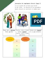Sample Pronombres Personales de Complemento Directo