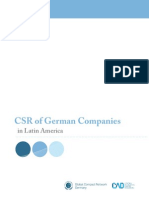 CSR of German Companies in Latin America