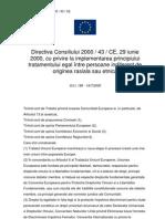 Directiva Consiliului 2000 43 CE RO