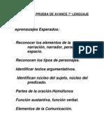 CONTENIDOS+PRUEBA+DE+AVANCE+7°+-+Lenguaje