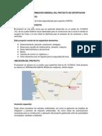 Informacion General Del Proyecto de Exportacion