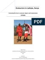Evaluating Ecotourism in Laikipia