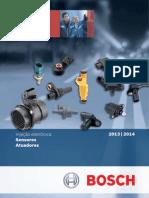 BOSCH CATALOGO APLICAÇOES SENSORES E ATUADORES SISTEMA DE INJEÇÃO ELETRONICA 2012/2014.pdf