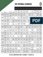 2013 SEC football master schedule