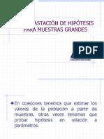 CONTRASTACIÓN DE HIPÓTESIS PARA MUESTRAS