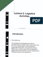 L2 Logistics Activities