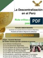 La Descentralización en el Perú-YEHUDE SIMON