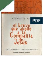 Clemente XiV Dominus Ac Redemptor