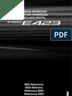 Yamaha E423 MIDI Ref