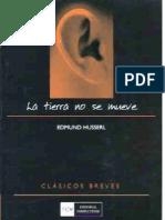 Edmund Husserl La Tierra No Se Mueve