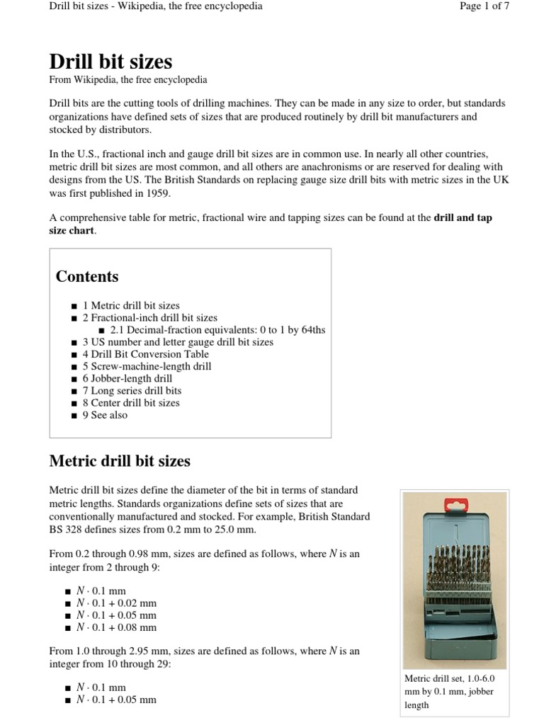 Drill bit sizepdf tools woodworking keyboard keysfo Gallery