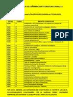 CRONOGRAMA DE EXÁMENES AGOSTO 2013