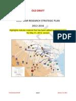Comparison - VA Gulf War Research Strategic Plan as Revised by VA Staff - 05-31-2012