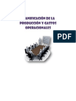 PLANIFICACIÓN DE LA PRODUCCIÓN Y GASTOS OPERACIONALES