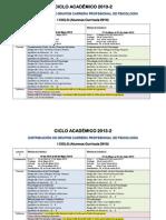 CRONOGRAMA ACTIVIDADES 2013-2 - PSICOLOGÍA_CURRICULA 2010_
