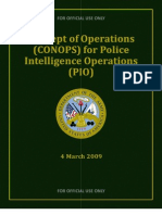 Concept of Operations for Police Intelligence Operations (CONOPS Police 2009)