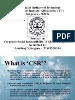 Corporate Social Responsibility by Amritraj D Bangera