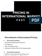 Pricing in International Market by Amritraj D Bangera