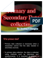 Primary Data Collection by Amritraj D Bangera