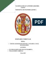 Cinetica de Degradacion de La Vitamina c en El Jugo de Limon 2 27-05-13