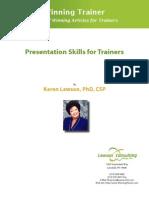 Presentation Skills for Trainers