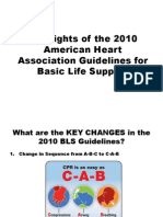 Summary of Key BLS Components for Adults Children and Infant