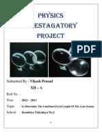 Physics Investgatory Project