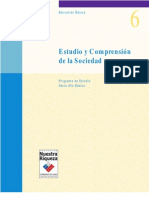 Planes y Programas de Estudio Y Comprensión de la Sociedad 6to Básico