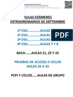 27 Aulas exámenes SEP
