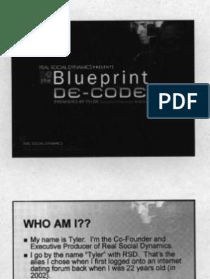 Real Social Dynamics - Blueprint Decoded - Slides