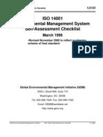ISO 14001 GEMI Self Assemssment