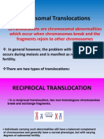 Chromosomal Translocations Power Point