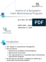 Elements of a Succesful Plant Maintenance Program_khan