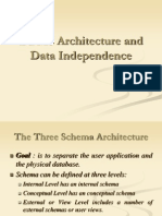 DBMS Architecture and Data Independance