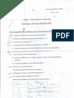 Examen de l'Introduction Au Marketing