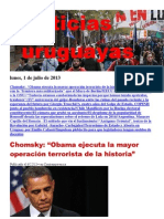 Noticias Uruguayas Lunes 1 de Julio Del 2013