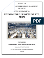 Study of Various Processes in Garment Industry