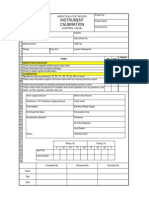 Ip Control Valve Calibration Form