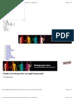 Yves Depelsenaire, Claude Lévi-Strauss face au couple homosexuel - La Règle du Jeu