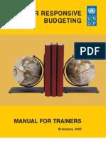 Gender responsive budgeting