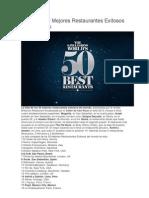 2013 Los 50 Mejores Restaurantes Exitosos en El Mundo
