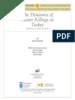 The dynamics of honor killings in Turkey