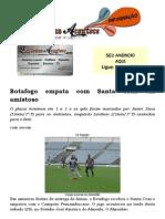 Botafogo Empata Com Santa Cruz Em Amistoso