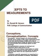 QUANTI - Concepts and Measurements