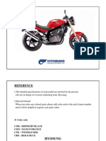 Hyosung GT250 Parts Catalogue