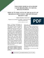 IDEB - O caso da região sudeste
